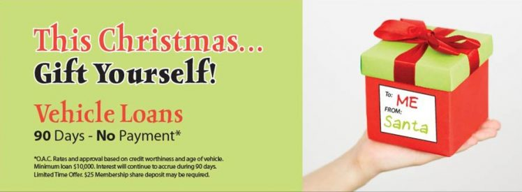 This Christmas...Gift Yourself! Vehicle Loans - 90 Days - No Payment - Click Here for Details