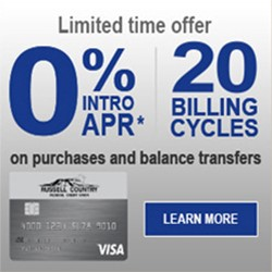 Platinum Credit Card - 0% Intro Rate - 20 Billing Cycles - On Purchases and balance transfers