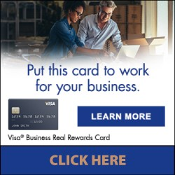 Put this card to work for your business. VISA Business Real Reward Card. Click Here.