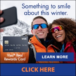 Something to smile about this winter - VISA Real Rewards Card - Click Here