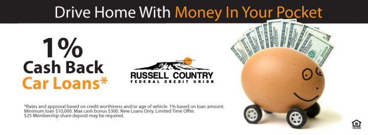Driving Home With Money In Your Pocket! 1% Cash Back Car Loans!